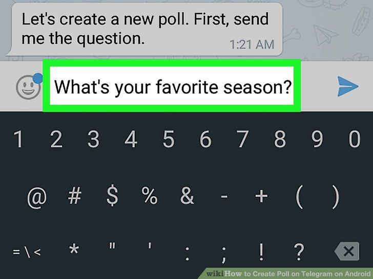 قراردادن لینک نظرسنجی در تلگرام